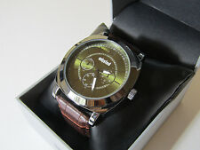 Unlisted Kenneth Cole Men's Analog Brown Leather Band Watch UL 1958