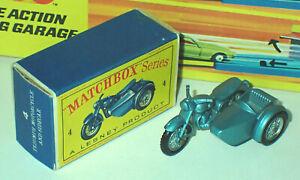 Matchbox 4c Triumph T110 Motorcycle Mint in Very Near Mint Box