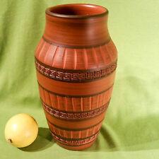 AKRU Krupp Klinker Vase Ritzdekor 60er Jahre 92/25 sgraffito Kerbschnitt