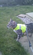LAND O BURNS BENGALS CAT WALKING JACKET  FLUORESCENT YELLOW HI VISIBILITY- LARGE
