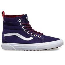 VANS Sk8 Hi (MTE) Evening Blue/True White Suede Skate Shoes MEN'S 7.5 WOMEN'S 9