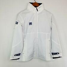 Mooto White Blue Full Zip Martial Arts Windbreaker Jacket Size 150 S Taekwondo