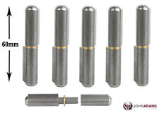 6 x Lift Off 60mm Bullet Hinges Carbon Steel Weld On Truck Trailer Vehicle Round