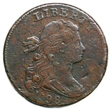 1798 S-183 R-5 2nd Hair, Small 8 Draped Bust Large Cent Coin 1c