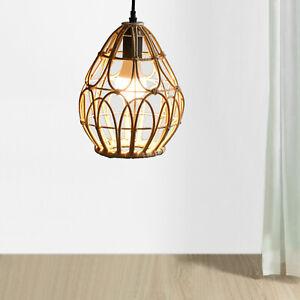 Rattan Lantern Chandelier Lamp Shade Pendant Light Fixtures Hanging Lamp