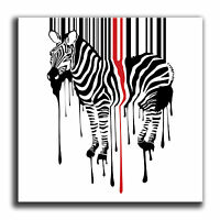 Abstract Zebra Stripes Single Canvas Wall Art Picture Print 2