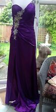 NEW Jovani Purple prom pageant couture dress  UK12 M  BNWT