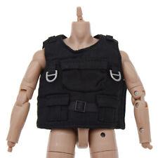 "1/6 Scale Model Black Tactical Bulletproof Vest Body Armor for 12"" Action Figure"