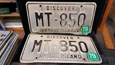 1 set/Pair of RI License Plates# MT-850 VIN/EXP Vintage 1979