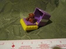 Fisher Price Little People Birthday Gift Present Purple Box 2 bows Teddy Bear