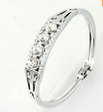 PLATINUM PLATED AUSTRIAN CRYSTAL BANGLE