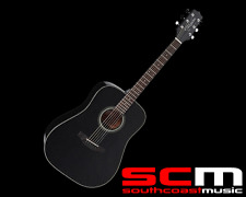 RRP$379 Takamine D2DBLK Dreadnought Acoustic Guitar Gloss Black Finish