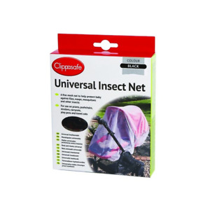 New White or Black Clippasafe Child Safety Mosquito Pram Insect Net (Universal)