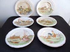 Série assiettes Longwy décor animaux gibiers chasse