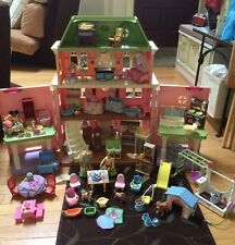 FISHER PRICE LOVING FAMILY GRAND MANSION DOLLHOUSE W/ 80 ACCESSORIES/FURNITURE