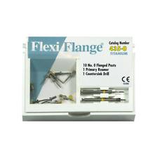 EDS Flexi-Flange YELLOW #0 Titanium Posts Refill 10Pk 435-0 Flexi Flange