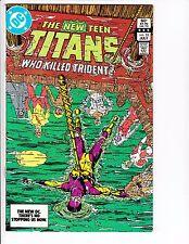 NEW TEEN TITANS #33 (v.1, 1983): George Perez cover  --  VF-