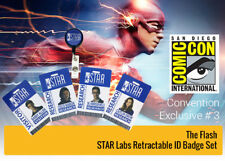 """THE FLASH """"STAR LABORATORIES RETRACTACTABLE ID BADGE HOLDER SET"""" NEW in PACKAGE"""