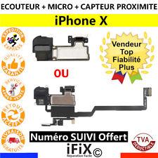 ÉCOUTEUR INTERNE IPHONE X HAUT PARLEUR  + MICRO + CAPTEUR LUMIÈRE PROXIMITÉ