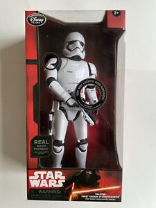 "STAR WARS, FIRST ORDER STORMTROOPER 14"" Talking Figure, Disney Store/ NEW IN BOX"