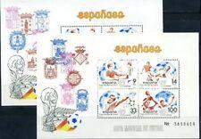 Spain, World Cup 1982, 2 blocks Soccer Football