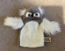 New Ark Toys owl puppet soft cuddley toy children's kids grey white activity
