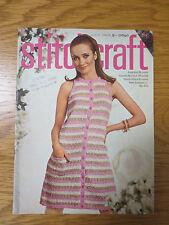 Stitchcraft Magazine JULY 1968 Knitting Patterns Needlepoint Crochet Vintage
