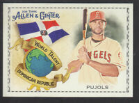 Topps - Allen & Ginter 2018 - World Talent WT-16 A Pujols Los Angeles Angels