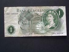 ****British  C99Z****Crisp  'VF'   £1    Fforde 1967   Banknote******