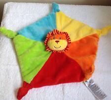 Mothercare Lion Safari Rattle  Plush Comforter Blankie Blanket