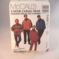 Jacket Top Pull-on Pants Pattern McCall's 7409 Size L Palmer Pletsch Unisex