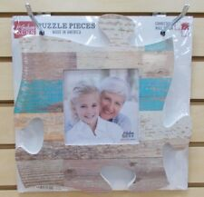 PUF0263 MULTI COLOR WOOD PHOTO FRAME P GRAHAM DUNN PUZZLE PHOTO WALL DECOR