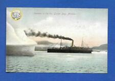 Steamer In The Ice - Glacier Bay - Alaska AK - Steamship Vintage Postcard unused