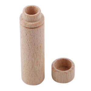Tube Wooden Box For Storage Sewing Needle FW