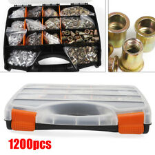 1200pcsset Rivet Nut Kit Mixed Stainless Steel Rivnut Insert Nutsert Threaded