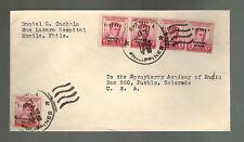 1946 San Lazaro Hospital Manila Philippines Cover to Pueblo USA