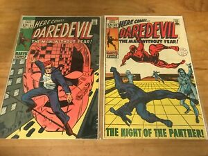 DAREDEVIL 51-51 ORIGINAL SERIES. BARRY (windsor) SMITH EARLY ART. BLACK PANTHER.