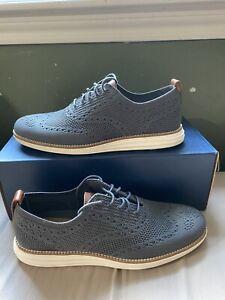 Cole Haan Men's Original Grand Stitchlite Wingtip Oxford Blue Grey C27961 Size 9