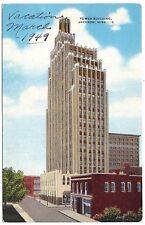 1949 Tower Building, Jackson Ms Merchants Bank, Mississippi, linen postcard