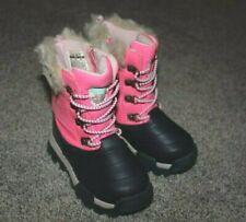 Carters Pink Navy Komet Faur Fur Trim Snow Boots Winter Toddler Girls Size 7 NEW
