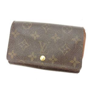 Louis Vuitton Wallet Purse Monogram Brown Woman Authentic Used E1052