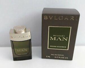Bvlgari Man Wood Essence Eau de Parfum mini for men, 5ml, Brand New in Box