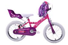 "Miami Miss 16"" Wheel Girls BMX Bike Dolly Seat, Streamers Pink Purple Age 5+"