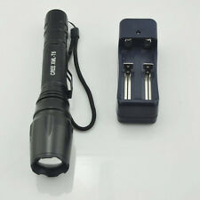 Super Bright Zoomable CREE XML T6 LED 2500 Lumen Flash Tourch Light Free Charger