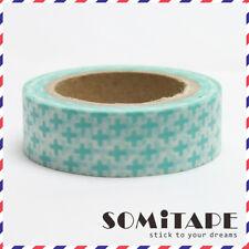Cruz Verde Washi Tape, Artesanales Decorativos Cinta