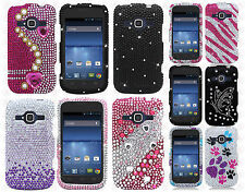 For ZTE Concord II 2 Z730 Crystal Diamond BLING Hard Case Snap On Phone Cover
