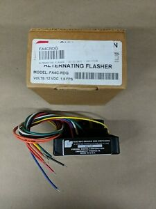 FEDERAL SIGNAL FA4C-RDG Compact Electronic Flasher, Ground Side,  NEW IN BOX