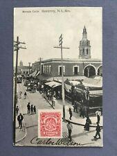 ±1905 Postcard MEXICO MONTERREY - MERCADO COLÓN - J. R. Flores COLON MARKET