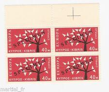 SPECIMEN Europa Cept 1962 Chypre Cyprus Zypern Yvert n° 208 Michel n° 216 bloc 4