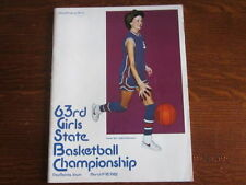 1982 Iowa High School Girls State Basketball Championship Official Program